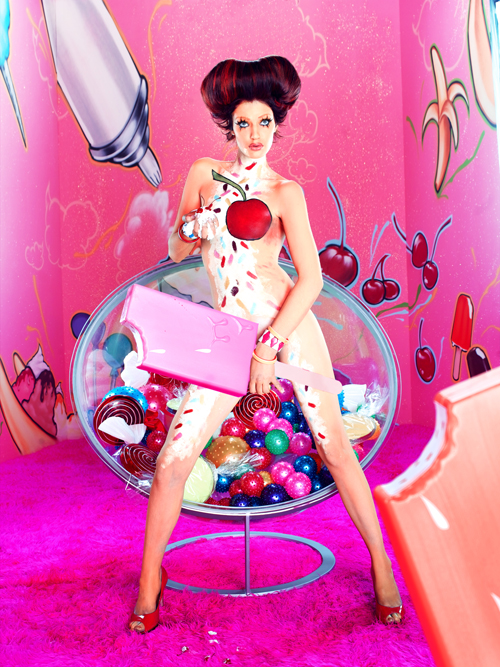 Brittany on the Candy Photoshoot