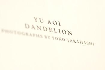 Yu Aoi - Dandelion Photobook - Title