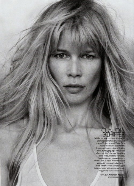 Claudia Schiffer by Peter Lindbergh