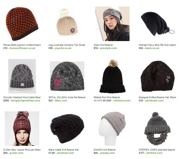 knitted beanies polyvore